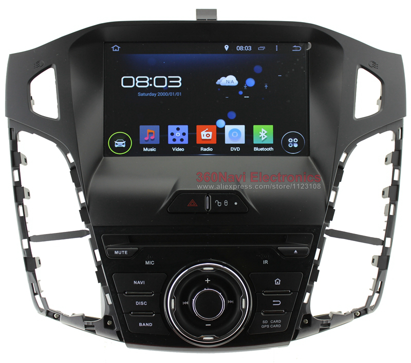 Quad core 1 din Android Car DVD GPS for Ford Focus 3 2012 with Bluetooth Radio RDS Wifi 3G host External Mic Free 8GB Map Card(China (Mainland))