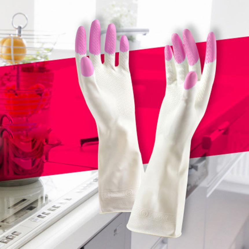 Mosunx Business Long Sleeve latex Kitchen Wash Dishes Dishwashing Gloves House Cleaning(China (Mainland))