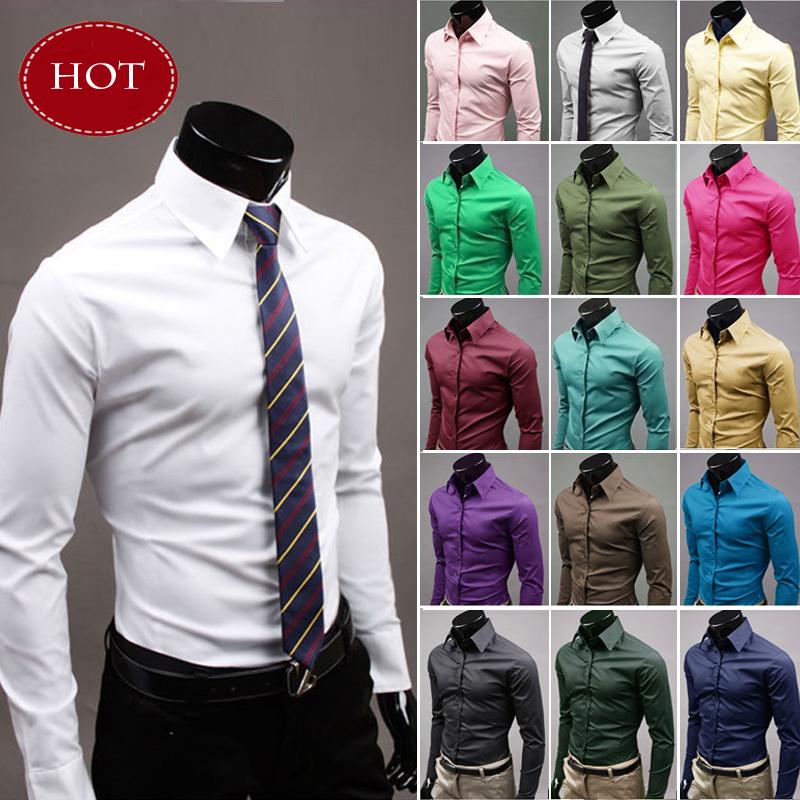 Mens Shirt Long Sleeve Brand Clothing Man Dress Shirts Spring Fashion Casual 2016 Blouse Evening Social Camisa Chemise Masculina(China (Mainland))