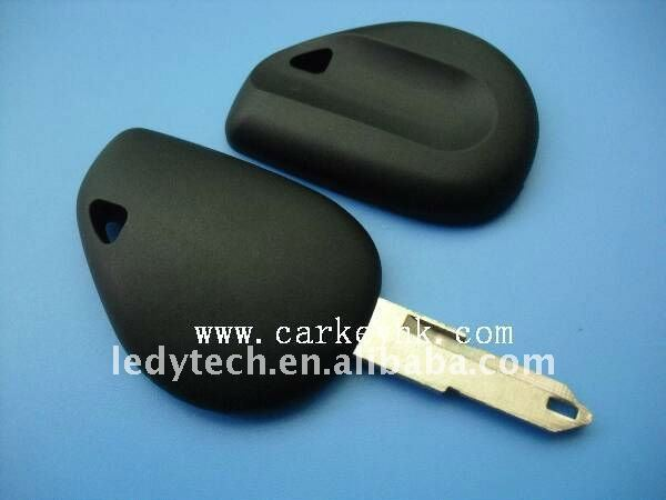 High quality Renault no logo transponder key cover shell blank