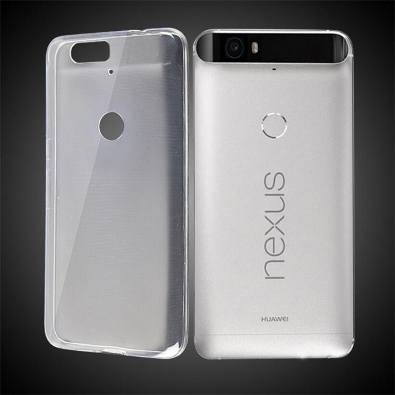 2016 Soft Transparent TPU Gel Cover Case Skin For Huawei Nexus 6P(China (Mainland))