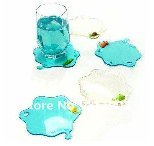 hot sell water stain PVC cup coaster,home&bar table accessory,anti slip cup mat,water drop Heat insulation mat,glass cup pad.