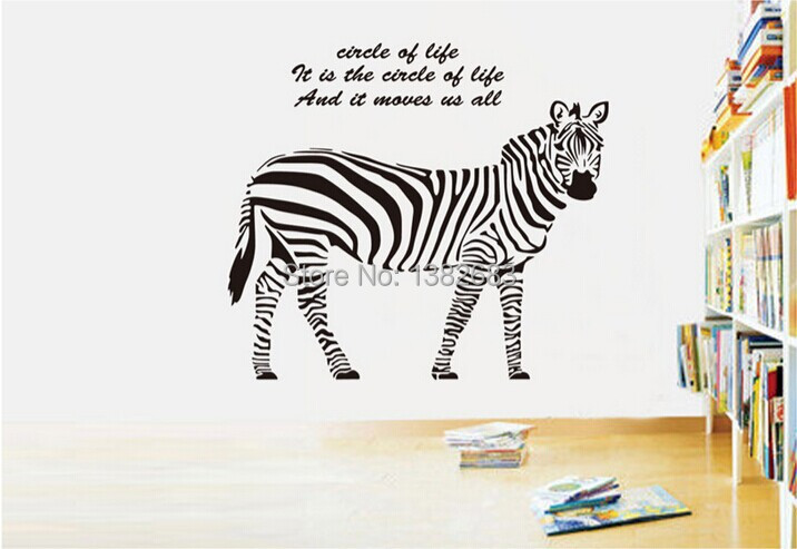 Animals zebra wall decals horse wall stickers wall art vinyl stickers