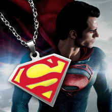 movie Superman necklace Super man, film and television Superman Pendants Necklaces For Men And Women,High Quality