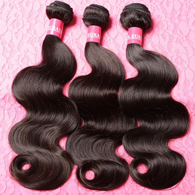 Eurasian Virgin hair Body Wave 3Pcs Lot Remy Human Hair Weave 7A Unprocessed Virgin Hair 100% Eurasian Hair Extensions(China (Mainland))