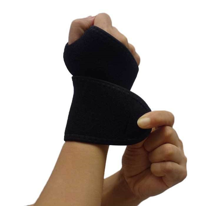 Adjustable Palm Wrist Thumb Hand Brace Support Protector Sports Gym Weight Lifting Straps Elastic Stretchy Wraps Protective Gear(China (Mainland))