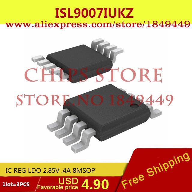 Бесплатная Доставка Электронных Компонентов ISL9007IUKZ IC REG LDO 2.85 В. 4A 8 8MSOP 9007 ISL9007 3 ШТ. бесплатная доставка интегральные схемы типов lt1762ems8 3 3 tr ic reg ldo 3 3 в 15a 8 msop lt1762ems8 3 3 1762 lt1762 3 шт