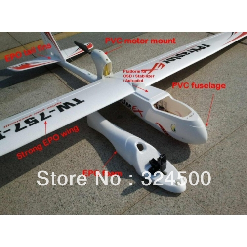 Remote Control Electric Powered Discount New Raptor 2M Propeller Glider Modle Airplane For Sale Radio RC Model Air Plane Kit Cub(China (Mainland))