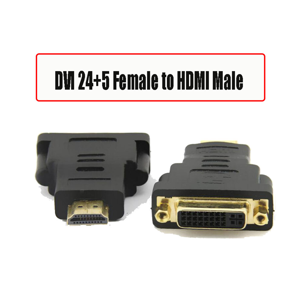 New DVI 24+5 to HDMI DVI 24+1 Male to HDMI Female Converter HDMI to DVI adapter Support 1080P for HDTV LCD(China (Mainland))