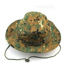 Flash ship  Brand outdoor activities Military Fishing Bucket Cap Camping Hiking Wide Brim Camouflage Sun Hat Hunting Fishing Cap(China (Mainland))