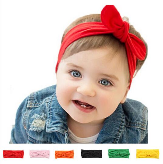 Malloom Newborn Kids Girl Headbands 2017 Rabbit Bow Satin Ribbon Photography Props Flower Headband Hair Accessories A152(China (Mainland))