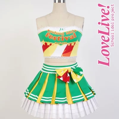 2015 anime Love Live Koizumi Hanayo Cosplay Costume Cheerleading Uniforms any size Customized full set for femaleОдежда и ак�е��уары<br><br><br>Aliexpress