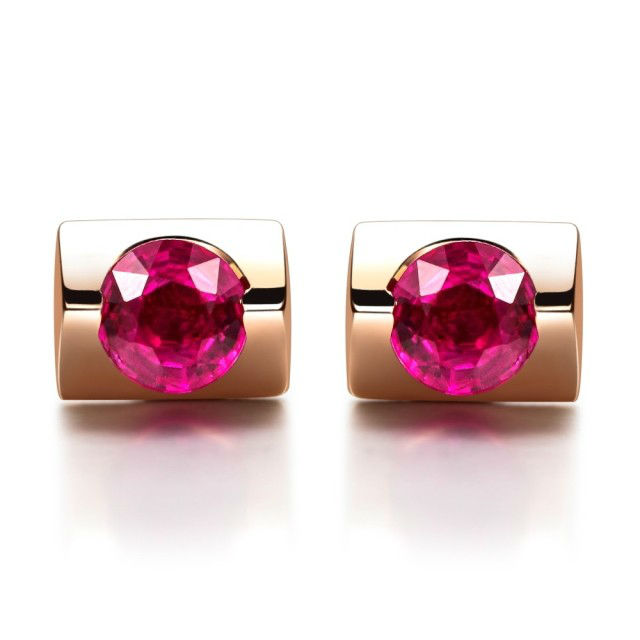 Здесь можно купить  GVBORI Natural  Ruby&18K Rose Gold   Earrings For Wedding Women Earrings Fine Jewelry Free Shipping  Ювелирные изделия и часы