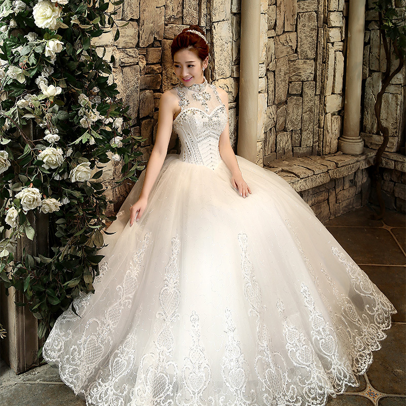 2015 Bling Rhinestone Bride Women 39 S High Waist Slit