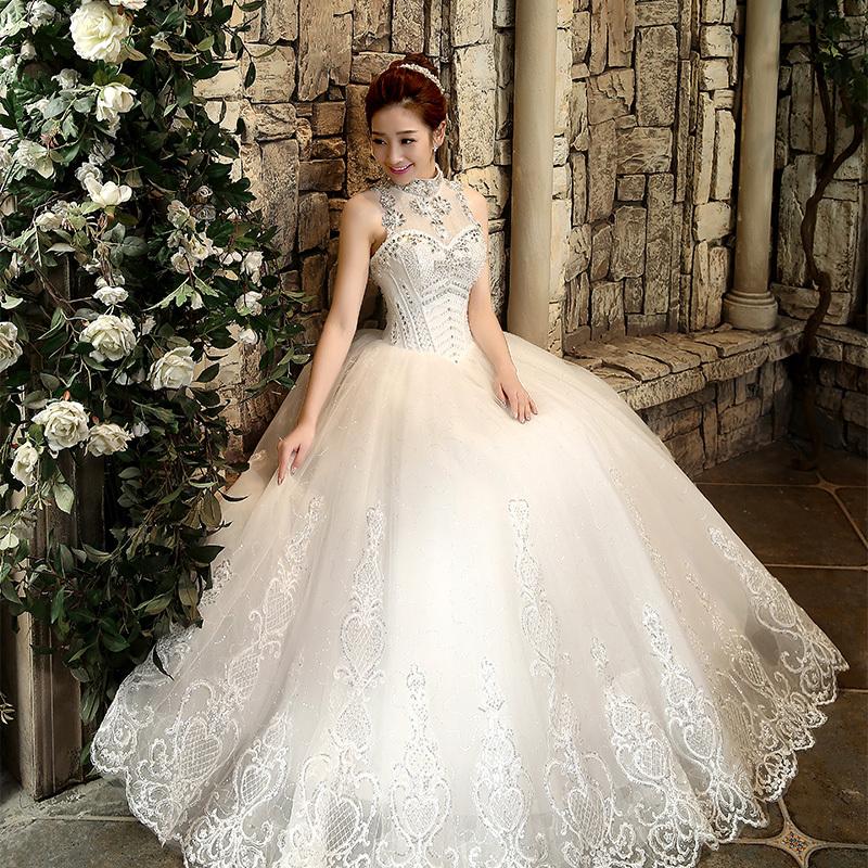 2015 bling rhinestone bride women 39 s high waist slit for Plus size bling wedding dresses