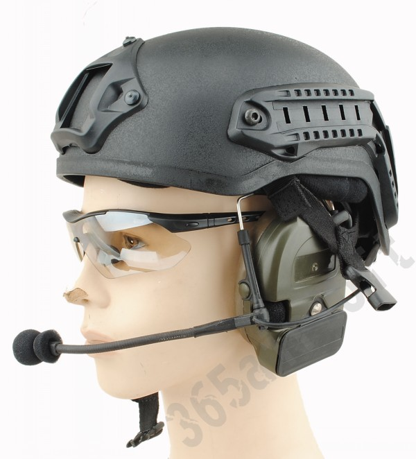 Tactical Mich 2001 Helmet with NVG Mount ARC Rail Black Free Shipping(China (Mainland))