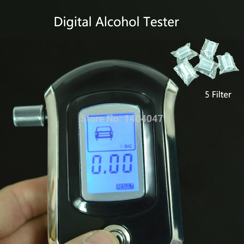 Brand New AT6000 Professional Mini Police Digital LCD Screen Breath Alcohol Tester Breathalyzer(China (Mainland))