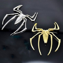 3D Metal Spider Car Stickers Car Accessories Golf 7 Car Styling and Decals Motorcycle Stickers(China (Mainland))