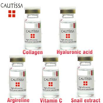 5 шт./лот cautissa аргирелин + улитка + коллаген сыворотка + витамин с сыворотка + 100% растительный экстракт гиалуроновая кислота сыворотка для лица