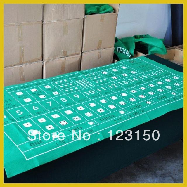 ZB-012 Non-woven fabric Texas Holdem Table Cloth, for Big Small Game 90*180cm(China (Mainland))