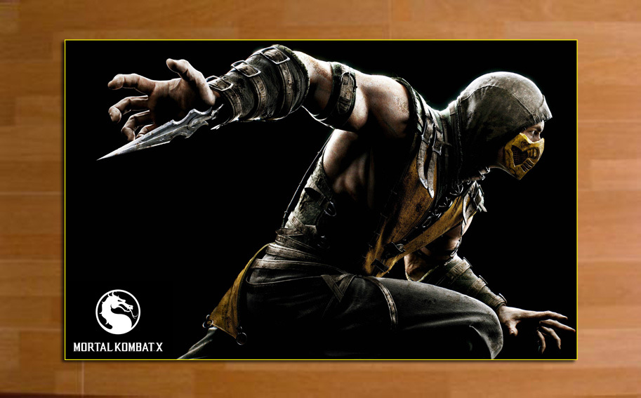 "MK84F  Game poster  Mortal_Kombat_X  High-quality posters prints  20 * 32"""