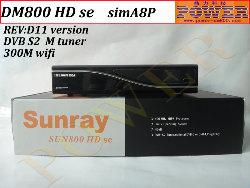 satellite tv receiver Original SIM A8P security ALPS M tuner dm 800se HD 300M wifi sunray 800 hd se dvb s2 Enigma2(China (Mainland))