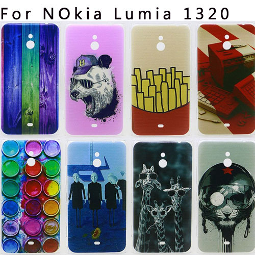 2015 New Arrival Perfect Design Colored Paiting Back Cover Phone Case For Nokia Lumia 1320 Case Hot Selling(China (Mainland))
