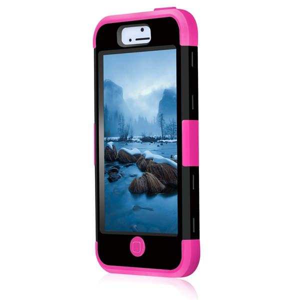 For Apple iPhone 5C 4.0 inch With 3 in1 Hybrid Rugged Anti-knock Shockproof Silicon+PC Dual Layer TPU Protector Mobile Phone Bag