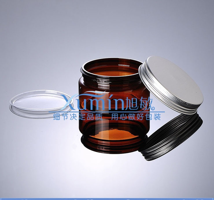 100g brown PET Bottle With Gorgeous silver aluminum Cap, 100ml Plastic Container Cream Jar, PET amber 100ml Cosmetic jar<br><br>Aliexpress
