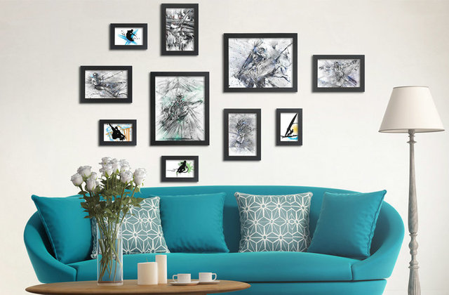 Living Room Wall Picture Frames wall picture frames for living room wonderful wall picture frames