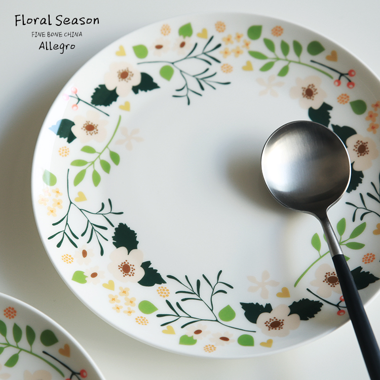 bone china dish steak dish western dishes 8-inch Floral(China (Mainland))