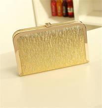 Горячие дамы золотой клатч мода женщин вечерняя сумочка свадебные кошельки ужин ну вечеринку цепи h сумки bolsas mujer XA1063C