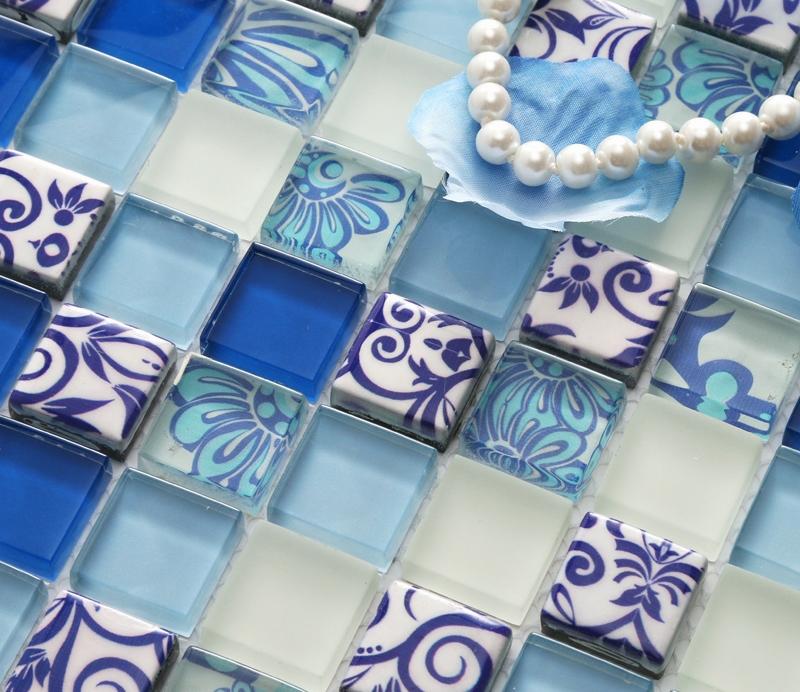 piastrelle blu-acquista a poco prezzo piastrelle blu lotti da ... - Blu Piastrelle Del Bagno Mosaico