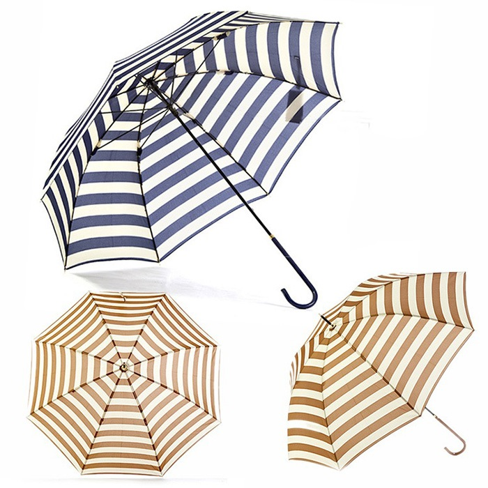 New Arrival 10 Piece Long Handle Umbrella Rain Women Men Umbrella Windproof Stripe Outdoor(China (Mainland))