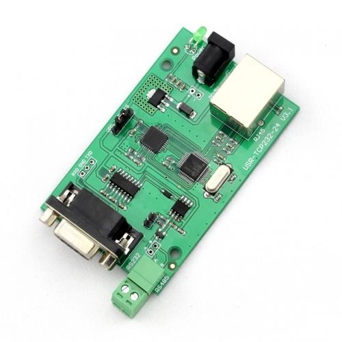 Q00194 USR-TCP232-24 Converter Module Server RS232 RS485 serial to Ethernet TCP +FreePost(China (Mainland))