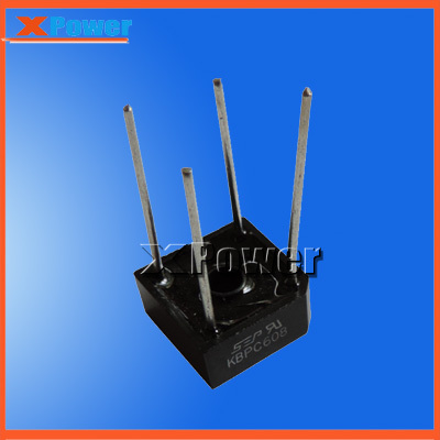 Wholesale XPower 6pcs KBPC608 Bridge Rectifier 5A AC to DC Rectifier(China (Mainland))