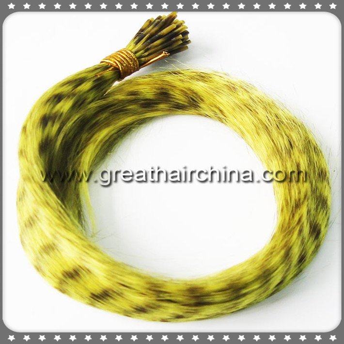 """1004 Strands/Lot 10""""-16"""" Mixed 10 Colors Heat Resistant Fiber Synthetic Rooster Grizzly Hair Extension"""