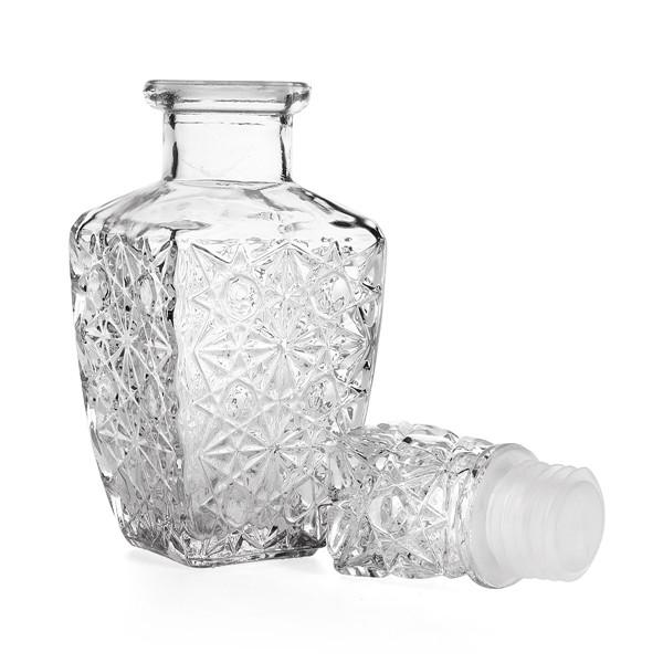 Design 850ml glass whiskey liquor wine drinks decanter crystal bottle