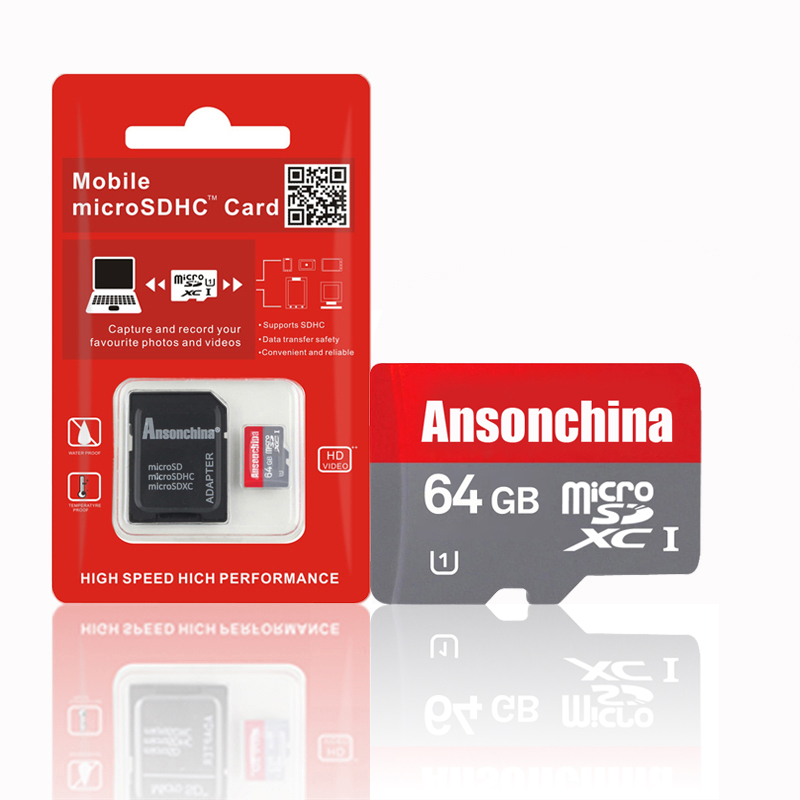 Genuie capacity Pass H2testw class10 Red Micro sd 64GB memory card TF Card 32gb 16gb 8gb 4gb Memory card SDHC SDXC Flash Cards(China (Mainland))