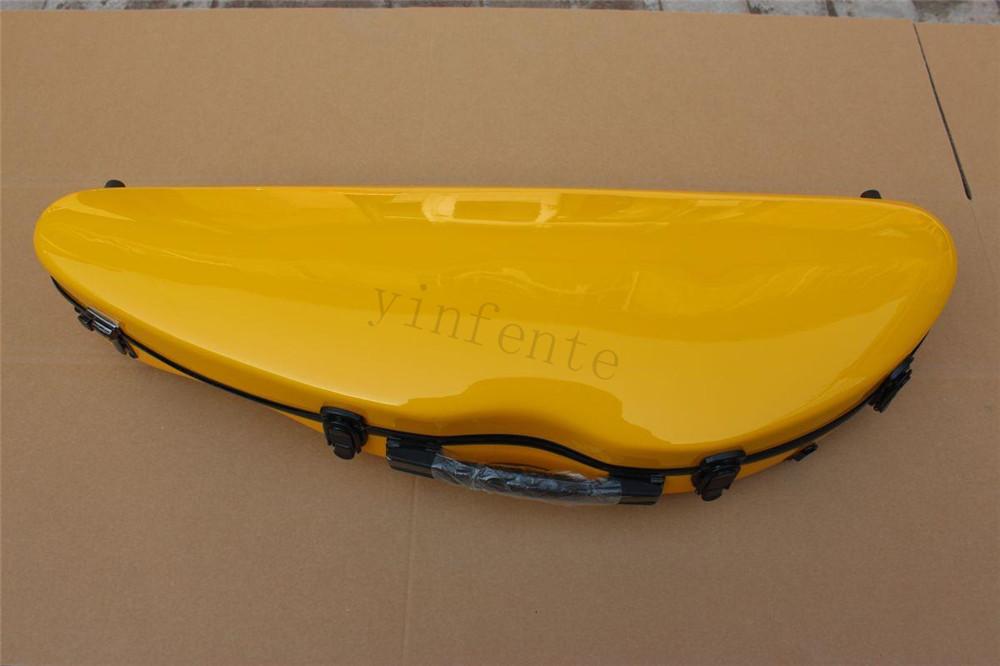 new yellow color 4/4 Violin case Glass Fiber Soft Imitate Leather Pink White Black #GF0011<br><br>Aliexpress