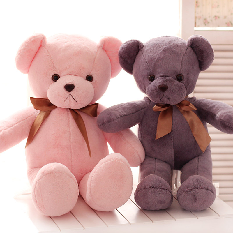 Candice guo! Newest arrival lovely plush toy cute color Teddy Bear stuffed doll Valentine's birthday gift 1pc(China (Mainland))