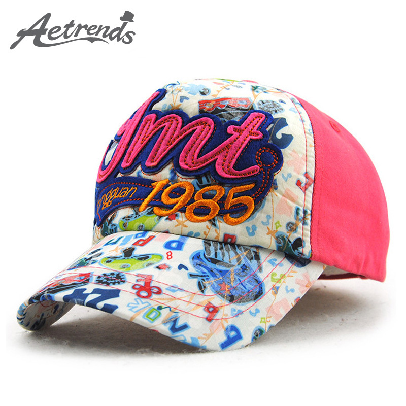 [AETRENDS] 2017 New Fashion Kids Baseball Cap Snapback Bone Cotton Hats for Children 5~7 Years Old Z-5037