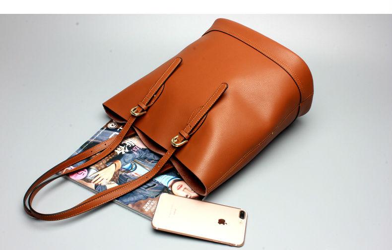 2017 Women Genuine Leather Handbags Tote Bag Women's Handbag Fashion Handbags Ladies Fashion Women Messenger Bag Shoulder Bags