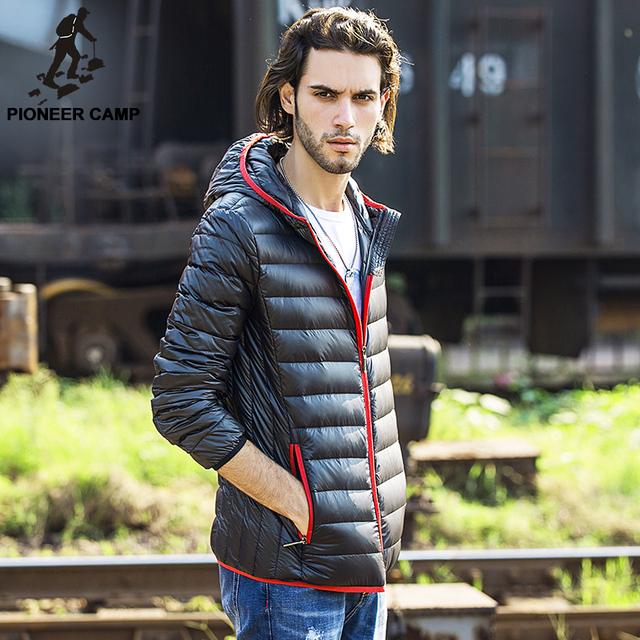 Пионер лагерь 2016 новое поступление зимняя куртка мужчины 90% белая утка пуховик ...