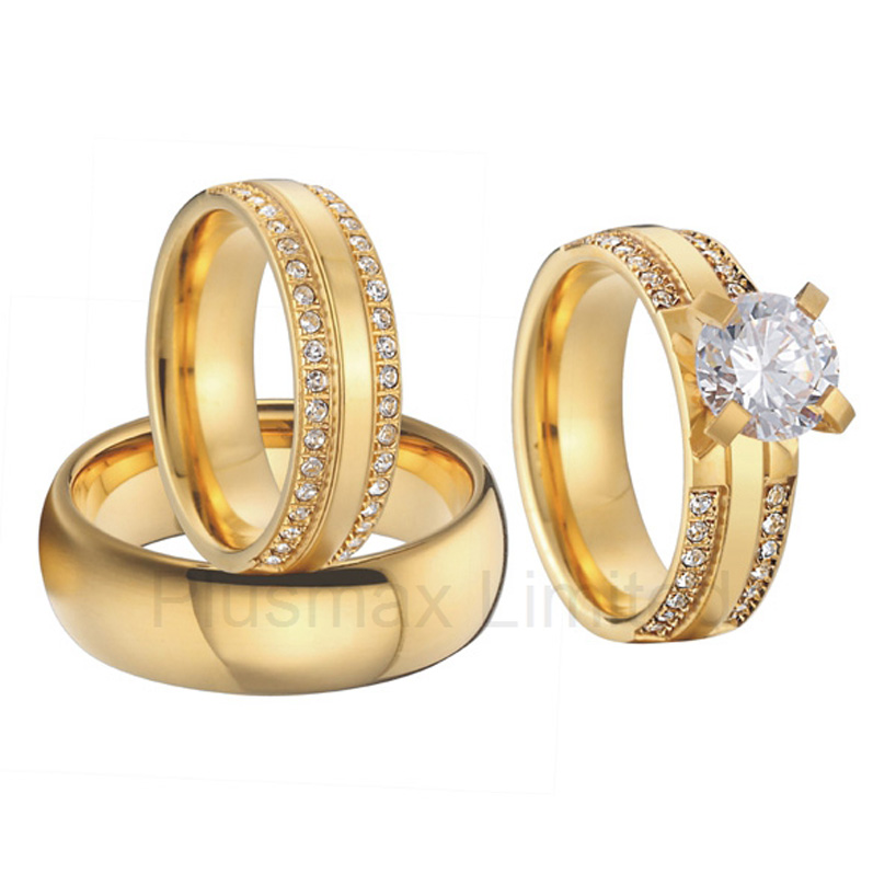 Popular 3 piece wedding ring sets buy cheap 3 piece for Lin s jewelry agana guam
