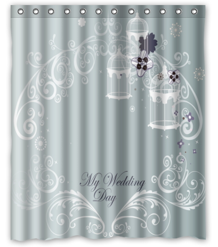 free shipping my wedding day custom shower curtain home