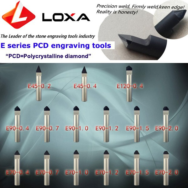 LOXA E Series PCD (polycrystalline diamond ) engraving tools 1
