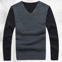 Long Sleeve Sweater Mens Jumpers 2015 New Bran High Fashion Pullover Sweater Men V Neck Mens Knitted Sweater Pullover Masculino(China (Mainland))