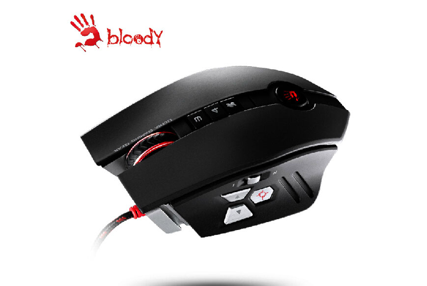 A4TECH BLOODY ZL50 Laser Gaming Mouse 11 buttons 8200 DPI For WOW CF LOL dota