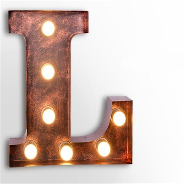 Metal Wall Light Letters : Popular Metal Letter Lights-Buy Cheap Metal Letter Lights lots from China Metal Letter Lights ...